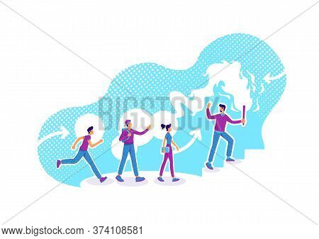 Career Guidance Flat Concept Vector Illustration. Business Counseling. Employees Training. Team Lead