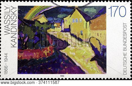 02 10 2020 Divnoe Stavropol Territory Russia The Germany Postage Stamp 1992 Paintings Of The 20th Ce