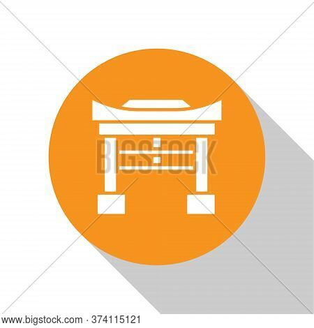 White Japan Gate Icon Isolated On White Background. Torii Gate Sign. Japanese Traditional Classic Ga