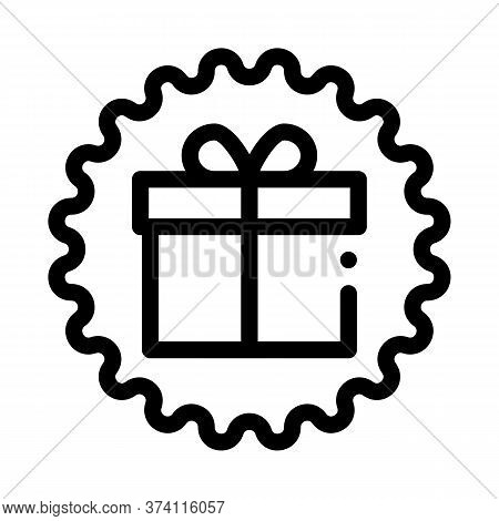 Webshop Gift Icon Vector. Webshop Gift Sign. Isolated Contour Symbol Illustration