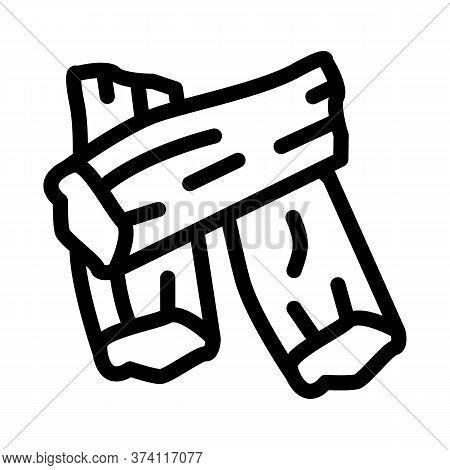 Soy Tofu Skins Icon Vector. Soy Tofu Skins Sign. Isolated Contour Symbol Illustration