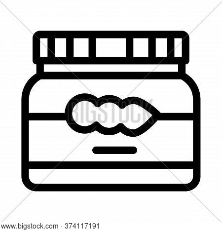 Soy Beans Jar Icon Vector. Soy Beans Jar Sign. Isolated Contour Symbol Illustration