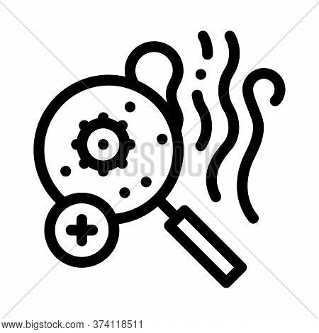 Odor Smell Microbe Research Icon Vector. Odor Smell Microbe Research Sign. Isolated Contour Symbol I