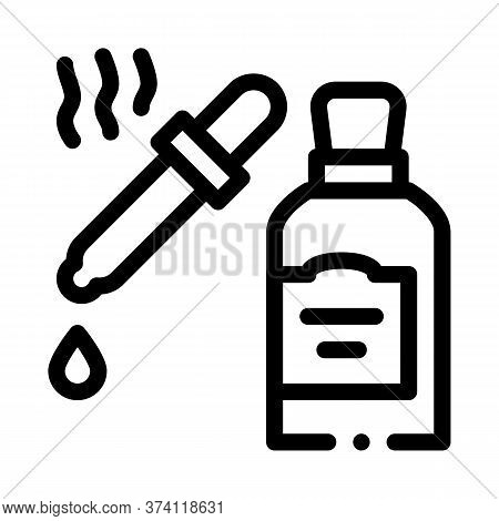 Aromatic Oil Pipette Icon Vector. Aromatic Oil Pipette Sign. Isolated Contour Symbol Illustration