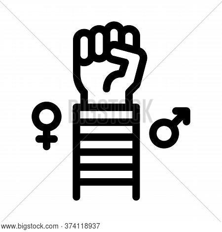 Lgbt Human Hand Gesture Icon Vector. Lgbt Human Hand Gesture Sign. Isolated Contour Symbol Illustrat