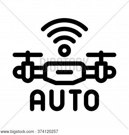 Drone Auto Return Home Icon Vector. Drone Auto Return Home Sign. Isolated Contour Symbol Illustratio