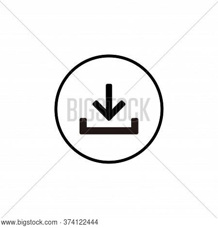 Download Icon Isolated On White Background From Seo Collection. Download Icon Trendy And Modern Down