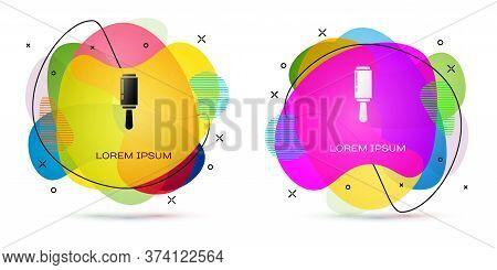 Color Adhesive Roller For Cleaning Clothes Icon Isolated On White Background. Getting Rid Of Debris,