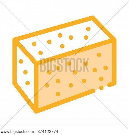 Soy Tofu Icon Vector. Soy Tofu Sign. Color Symbol Illustration