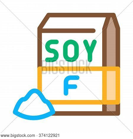 Soy Flour Package Icon Vector. Soy Flour Package Sign. Color Symbol Illustration