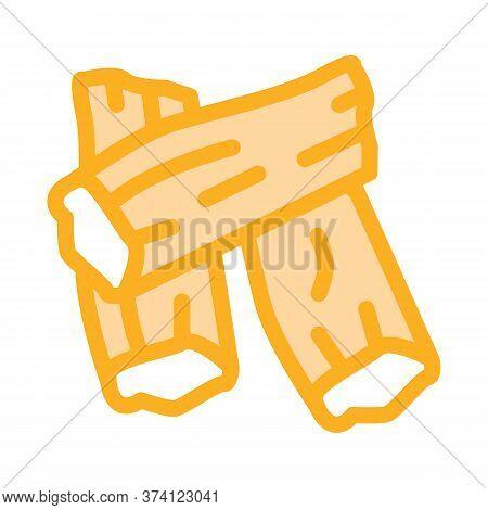 Soy Tofu Skins Icon Vector. Soy Tofu Skins Sign. Color Symbol Illustration