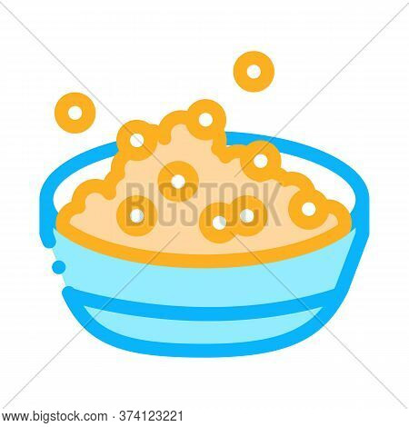 Soy Beans Dish Breakfast Icon Vector. Soy Beans Dish Breakfast Sign. Color Symbol Illustration