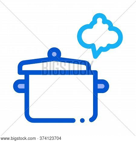 Cooking Odor Icon Vector. Cooking Odor Sign. Color Symbol Illustration