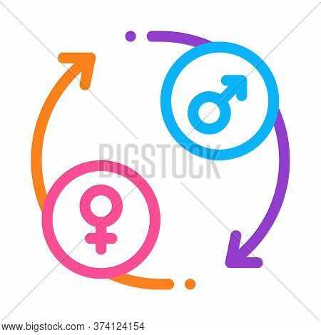 Lgbt Circle Arrows Icon Vector. Lgbt Circle Arrows Sign. Color Symbol Illustration