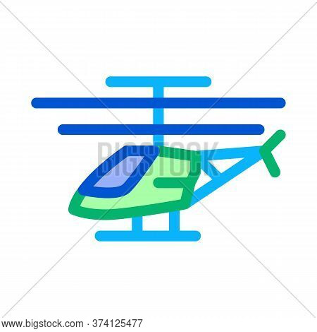 Drone Helicopter Icon Vector. Drone Helicopter Sign. Color Symbol Illustration