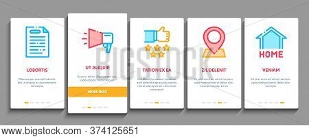 Webshop Internet Store Onboarding Mobile App Page Screen Vector Webshop Online Shop Coupon And Buy,