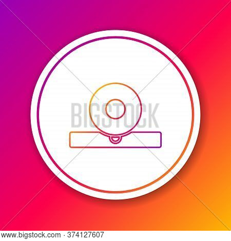 Color Line Otolaryngological Head Reflector Icon Isolated On Color Background. Equipment For Inspect