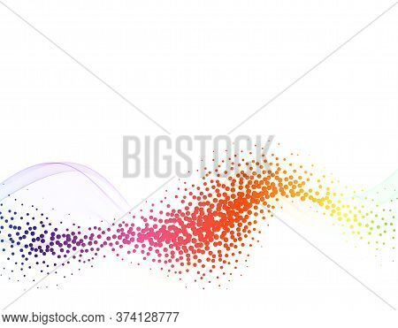 Sound Wave Technology Background Colorful Wave Flow