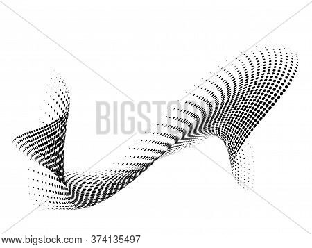 Abstract Halftone Wave Dotted Background, Illustration Vector Design