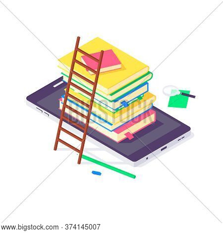 Isometric Book University And School Education Science Study Universities Teaching Learn Knowledge V