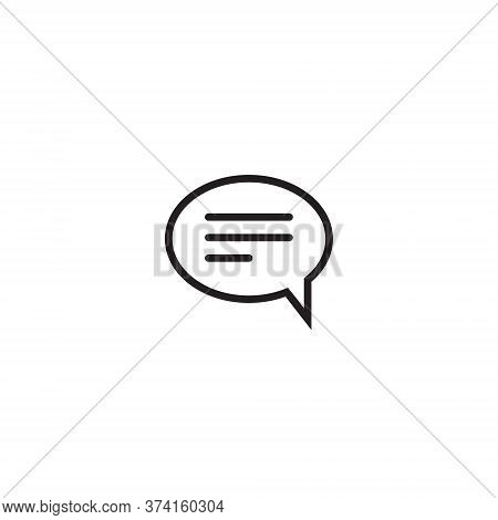 Comment Icon Vector In Trendy Style. Chat Symbol Design