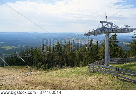 Chairlift On The Wurmberg Near Braunlage In The Harz National Park