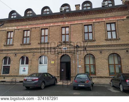 Gradiška / Bosnia And Herzegovina - March 7, 2020: Old Gymnasium Building, Higher Education Institut