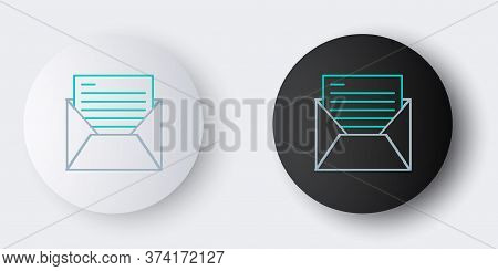 Line Mail And E-mail Icon Isolated On Grey Background. Envelope Symbol E-mail. Email Message Sign. C
