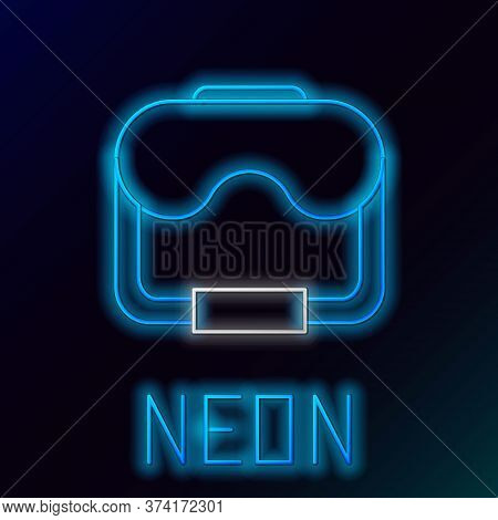 Glowing Neon Line Diving Mask Icon Isolated On Black Background. Extreme Sport. Diving Underwater Eq