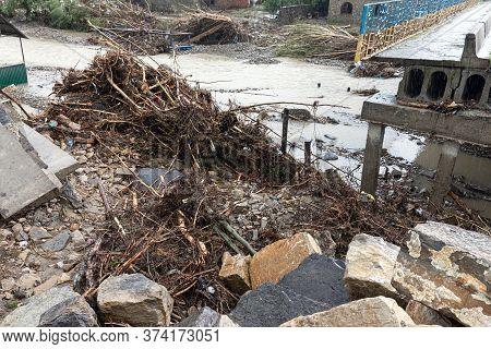 Carpathian Reg. Ukraine - 28 Jun. 2020: Catastrophic Flood In The Western Regions Of Ukraine.