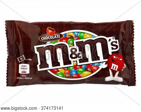 Bucharest, Romania - March 11, 2015. M&m's Chocolate Candies Isolated On White. M&m Is One Of The Mo