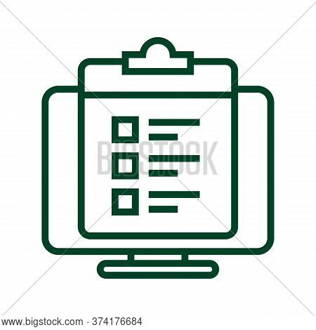 Black Line Icon For Survey-list Survey List Feedback Opinion Poll Message Bubble Review Testimonial