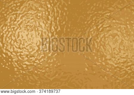 Yellow Golden Foil Vector Texture. Aged Yellow Rose Gold Surface For Greeting Card And Luxury Backgr