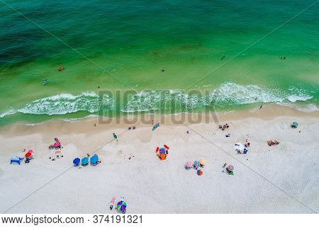 Pensacola Beach On The Florida Gulf Coast In June 2020