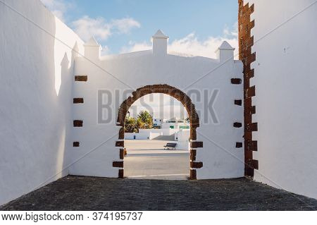 Lanzarote, Spain - April 04, 2020. The Old Architecture Of City Of Teguise.