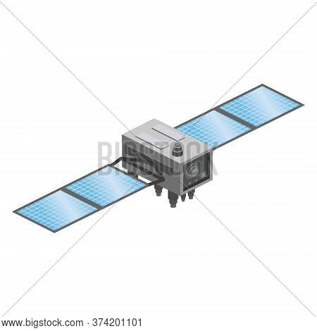 Satellite Artificial Communication Wireless Technology Gps . Spacecraft With Solar Panels And Antenn