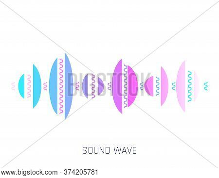 Music Sound Waves. Concept Musical Bar. Audio Digital Equalizer Technology, Console Panel, Musical P