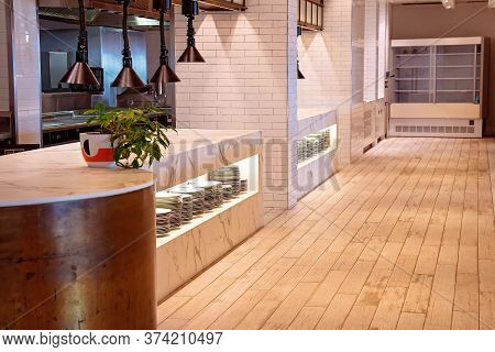 Townsville, Queensland, Australia - June 2020: Interior Of A Buffet Restaurant At A Luxury Hotel Clo