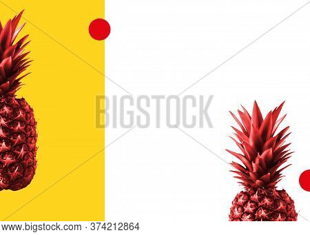 Zine's Style Template For Posters And Banners With Copy Space Asymmetric Abstract Background With Re