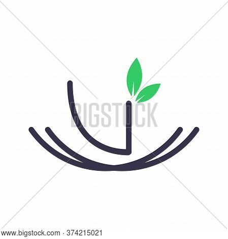 Simple And Minimalist Logo Design Initial V In Nest.