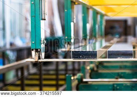 Aluminiun Profile Batch Transfer To Hardening Process In An Aluminiun Profile Factory.