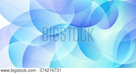 Abstract Colorful Background Made Of Curved Lines In Light Blue Colors