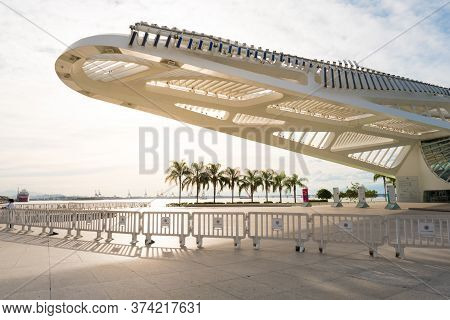 Rio De Janeiro, Brazil - June 30, 2020: Museum Of Tomorrow Is Temporarily Closed For Visitors Becaus