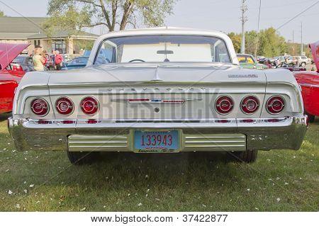 White Chevy Impala Ss Rear View