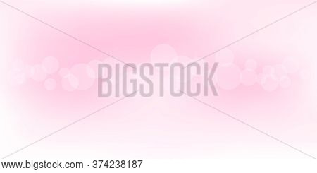 Soft Pink Bokeh For Background, Pastel Pink With Bokeh