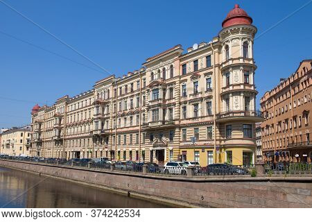 Saint Petersburg, Russia - June 19, 2020: Old Ratkov-rozhnov Apartment Building (1886-1888) On The E