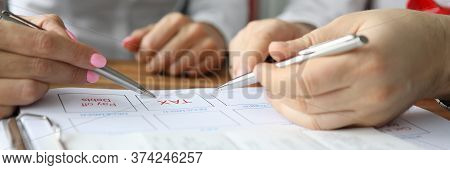 Hand People Fill Out Plan Budget Financial Payment. Maintaining Joint Budget And Account. Financial
