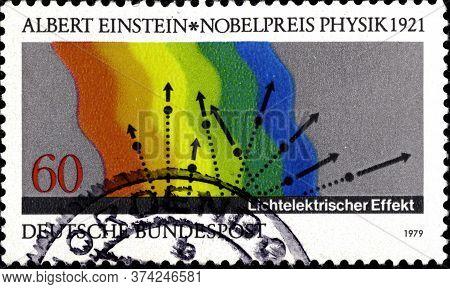 02 10 2020 Divnoe Stavropol Territory Russia The Germany Postage Stamp 1979 Nobel Prize Winners Albe