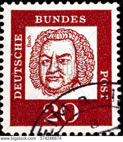 02 08 2020 Divnoe Stavropol Territory Russia The Postage Stamp Germany 1961 Famous Germans Johann Se