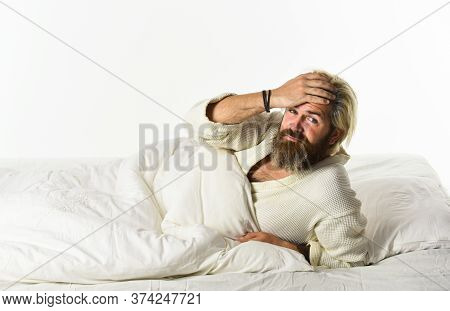 Interrupted Sleep. Sleep Concept. Regularly Sleeping More Than Suggested Amount May Increase Risk Of